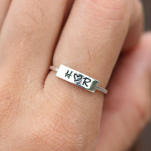 Custom name ring,personalized ring,initial ring,dainty ring,sterling silver ring,gift idea