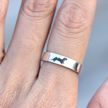 Engraved ring, Sea Otter Ring, Sterling Silver Otter Ring, Gift for Him, Gift for Her, animals jewelry