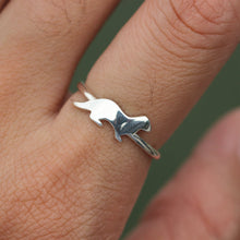 Sterling silver ring, Sea Otter Ring, Sterling Silver Otter Ring, best friend ring, animals jewelry