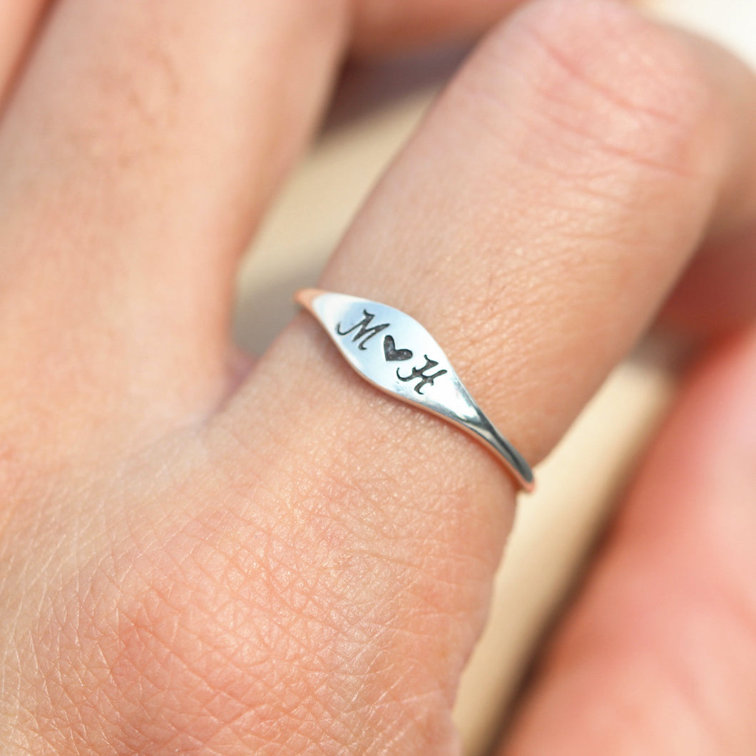 Custom SILVER Initial ring, letter ring, letters Jewelry, dainty ring,gift idea