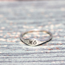 Custom SILVER Initial ring, letter ring, Personalized silver word ring,letters Jewelry, dainty silver ring,gift idea