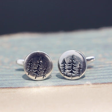 925 Sterling silver Pine Tree cufflinks,Evergreen Tree Jewelry,Personalized Wedding Cufflinks, Mens, Groom Wedding Cufflinks ,Gifts for Him
