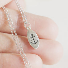 personalized anchor necklace,custom initial necklace,bestfriend jewelry,you and me jewelry,silver anchor jewelry,925 silver initial jewelry