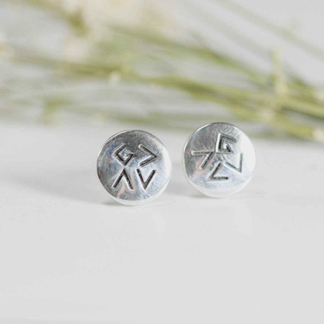 God is greater than the highs and lows stud earrings,silver earrings,Gift for her,Women's jewelry,Friendship jewelry,Confirmation gift