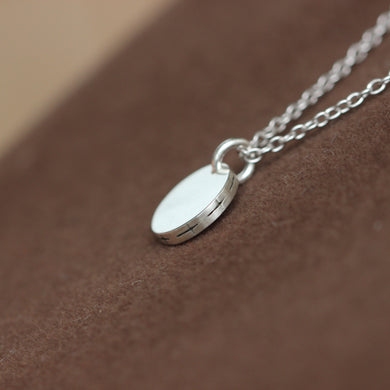 Silver Cross Necklace,sterling silver secret cross necklace,CROSS COIN jewelry,dainty necklace gift idea