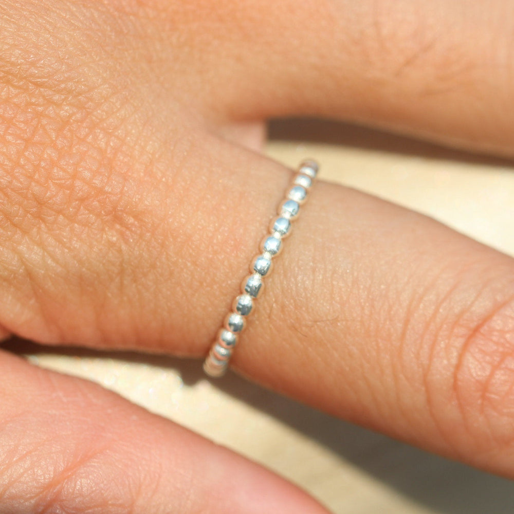 Load image into Gallery viewer, Sterling silver ball ring,Thin Silver Ring, Sterling Teeny Tiny Thin Ring