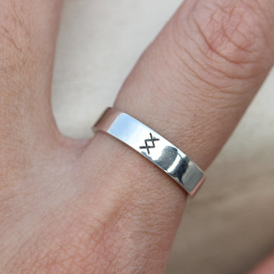 925 sterling silver viking rune ring,Inguz ring,silver rune ring,inspired jewelry,where there's a will,there's a way