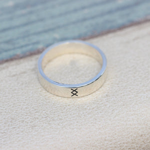 Load image into Gallery viewer, 925 sterling silver viking rune ring,Inguz ring,silver rune ring,inspired jewelry,where there's a will,there's a way