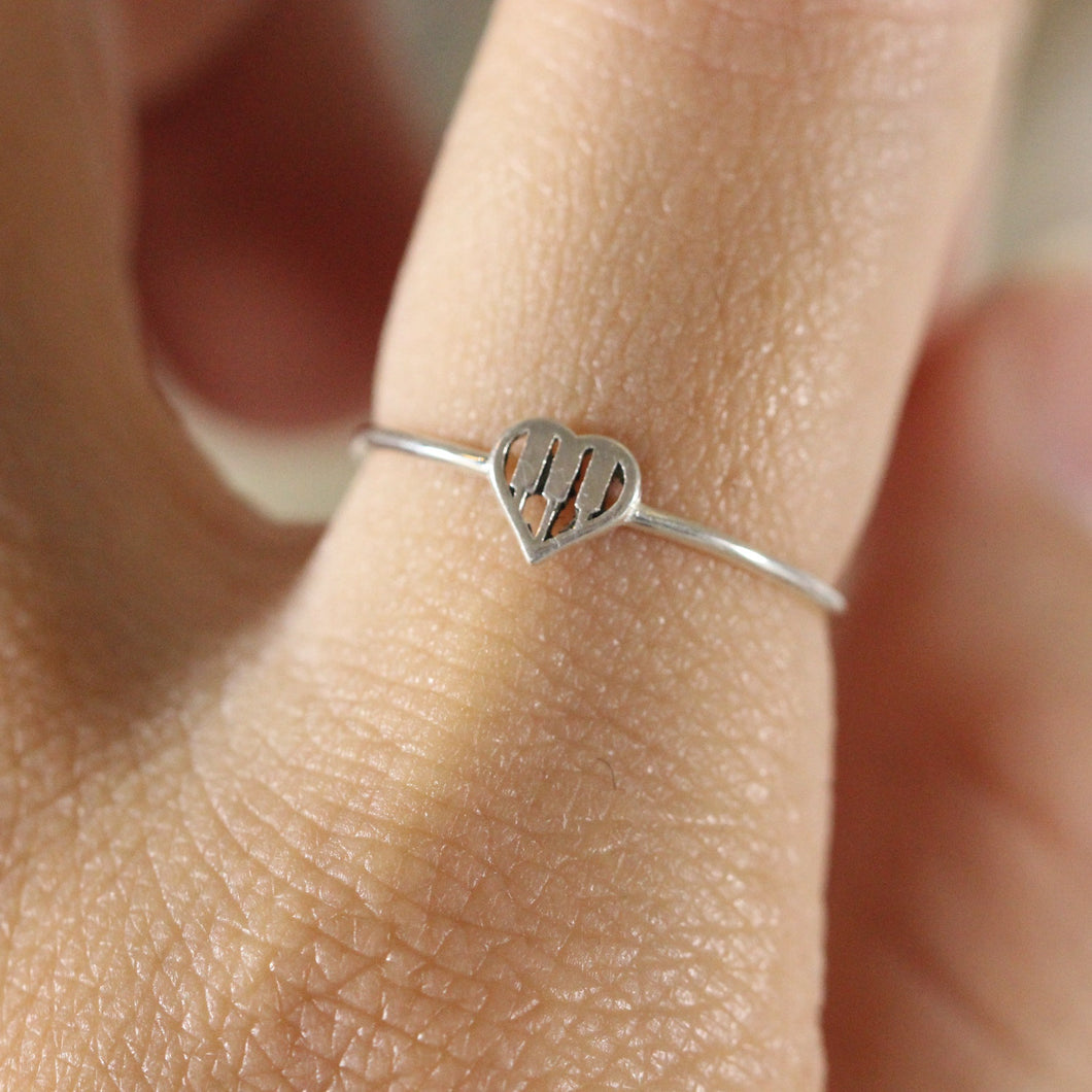 925 silver The piano keys ring,silver heart Ring,love ring,Piano Themed Ring, Music Lover Ring,teacher ring,music jewelry,