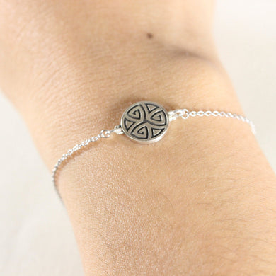 925 Sterling silver Celtic knot bracelet,Delicate Celtic Bracelet,Celtic jewelry bracelet,the celtic symbol for family