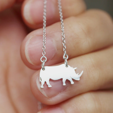925 sterling silver Water Buffaloes necklace silver cow necklace