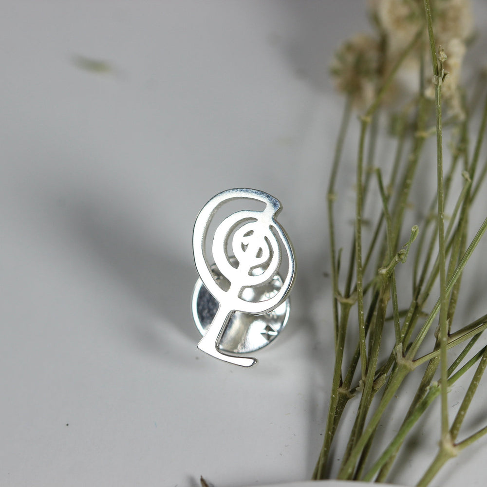 Load image into Gallery viewer, Cho Ku Rei brooch pin,sterling silver brooch,brooch pin,bridesmaid brooch,man pin,man brooch,gift for hushand,