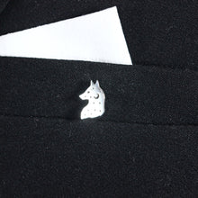 wolf moon brooch pin,sterling silver brooch pin,brooch jewelry,animal pin,Unisex jewelry