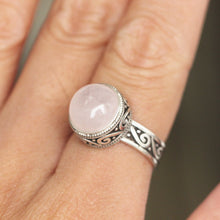 Sterling silver rose quartz ring,antique silver pink quartz ring,Celtic ring,lucky jewelry,Victorian style jewelry,mother gifts idea.for her