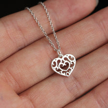 Sterling Silver heart container necklace the Legend of Zelda necklace