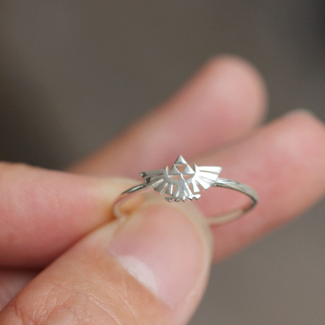 Sterling Silver Zelda ring,Legend of Zelda Triforce Ring,the Legend of Zelda jewelry