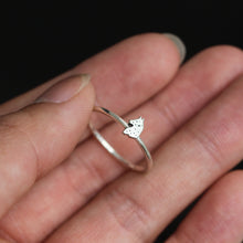 sterling silver WOLF head ring,moon ring,night wolf jewelry,simple silver ring, elegant jewelry