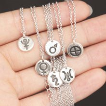 Sterling silver Planet necklace,Solar System,Planet symbol,Planets,Space jewelry, gift idea