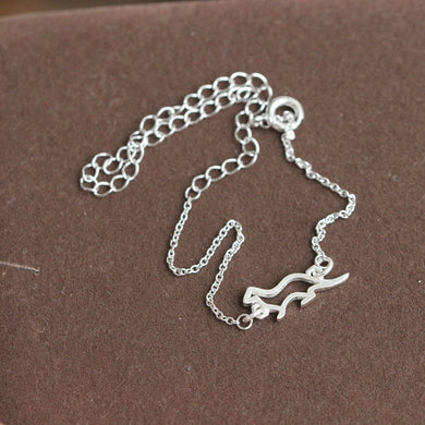 Sterling silver bracelet, Sea Otter bracelet, Sterling Silver Otter bracelet, best friend bracelet, animals jewelry
