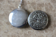 Celtic Tree Of Life Locket Necklace In Antique Silver C458l_s