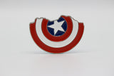 Captain America Shield Lapel Pin - Broken Shield - Comic Sandwiches Prop Replicas