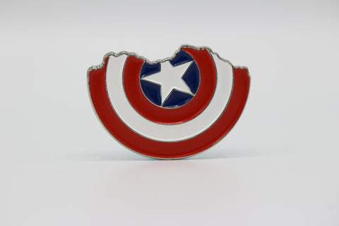 Captain America Shield Lapel Pin - Broken Shield - Comic Sandwiches
