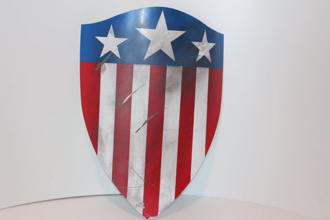 WWII Captain America Shield - Heater Shield Replica - Comic Sandwiches Prop Replicas