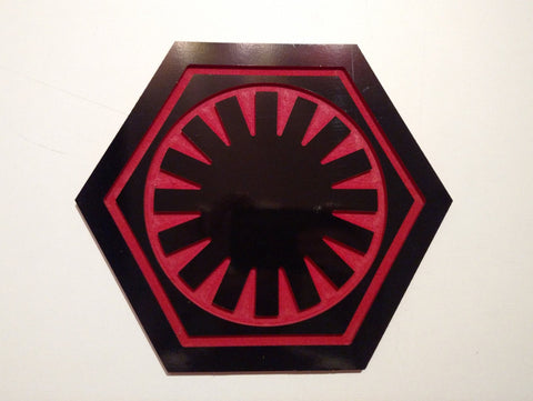 Star Wars The First Order Wall emblem