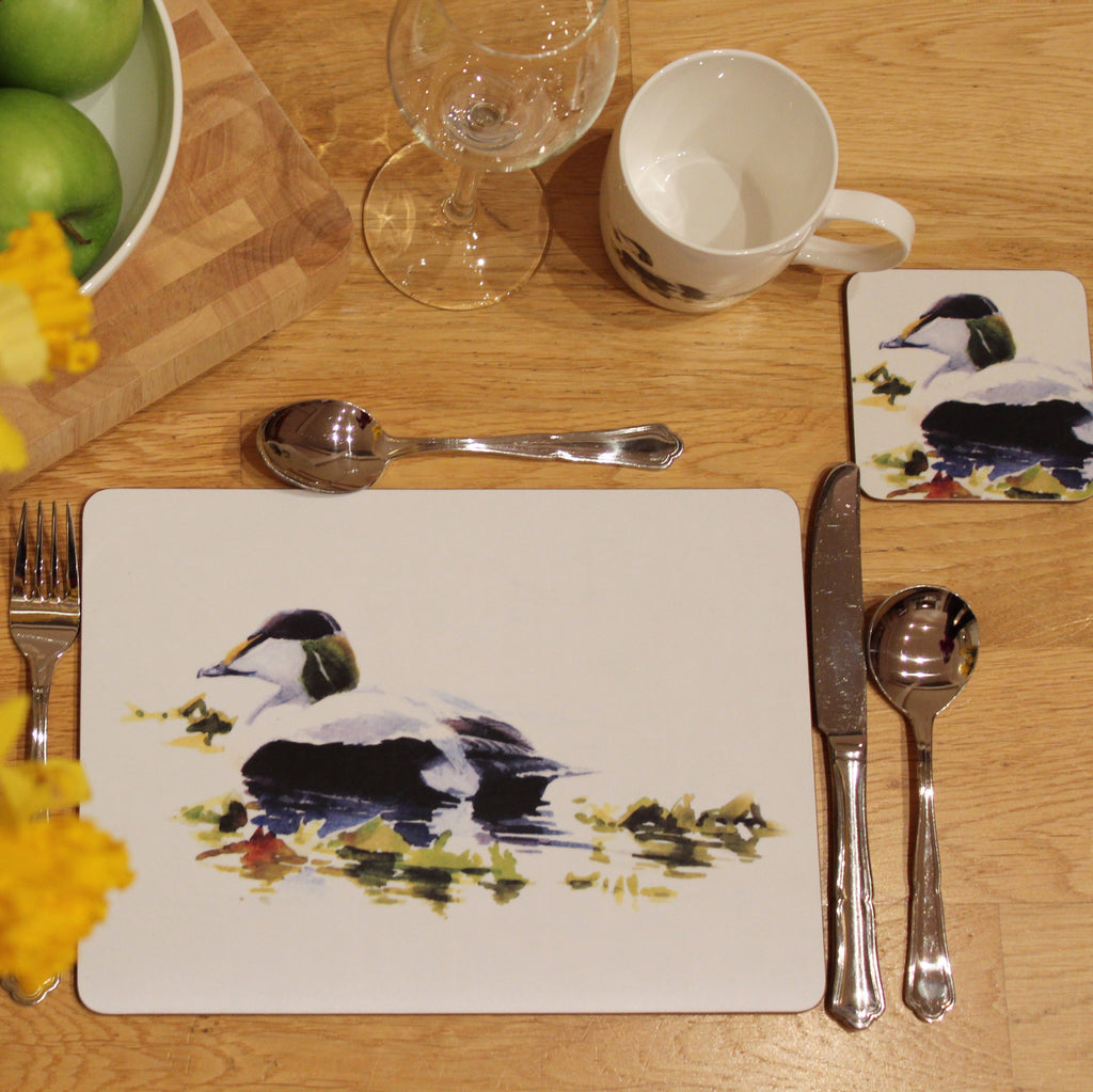 Orkney Storehouse | Eider Drake Coaster and Placemat Setting