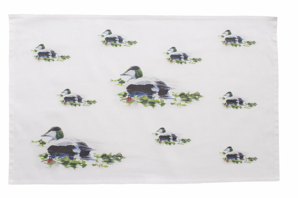 Orkney Storehouse | Eider Drake Tea Towel Repeating Product