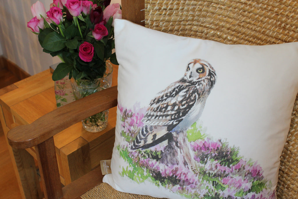 Orkney Storehouse | Short-eared Owl Cushion Lifestyle