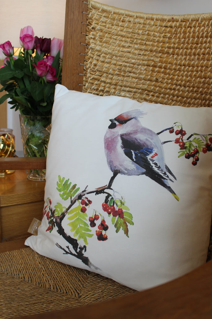 Orkney Storehouse | Waxwing Cushion Lifestyle