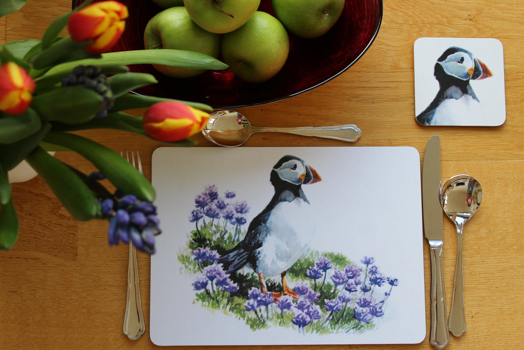 Orkney Storehouse | Puffin Placemat Setting