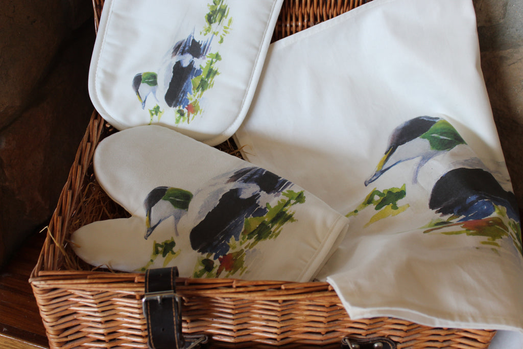 Orkney Storehouse | Eider Drake Tea Towel Lifestyle