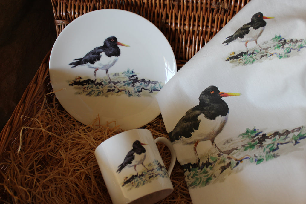 Orkney Storehouse | Oystercatcher Tea Towel Lifestyle