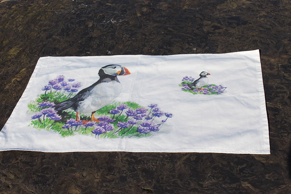 Orkney Storehouse | Puffin Tea Towel Lifestyle