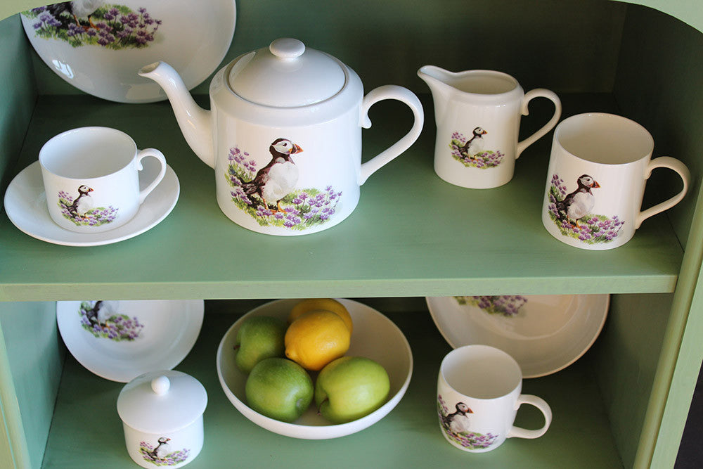 Orkney Storehouse | Puffin Teacup and Saucer Lifestyle