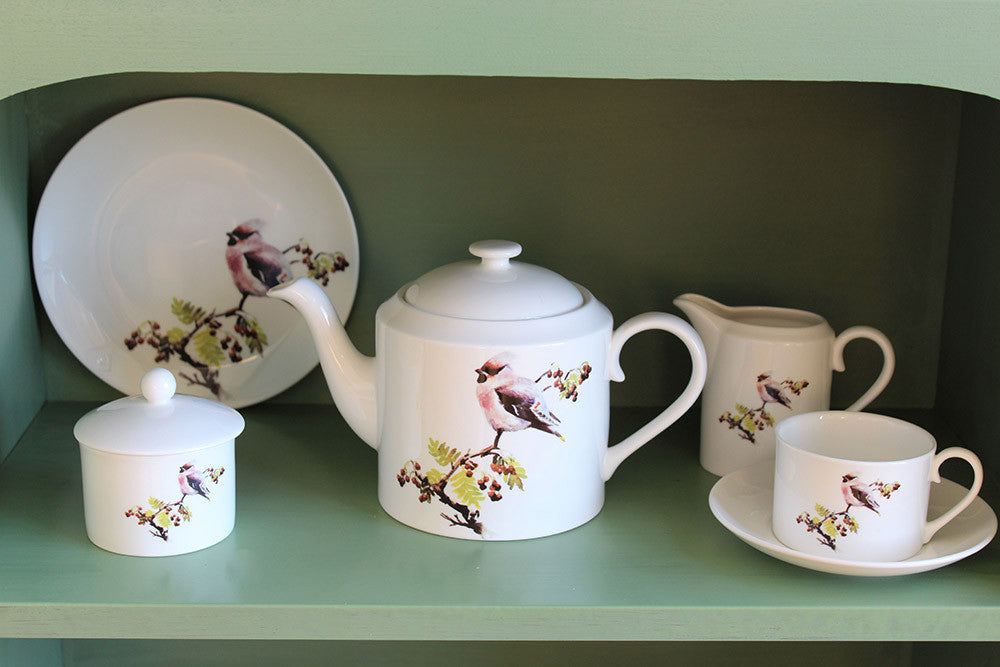 Orkney Storehouse | Waxwing Teacup and Saucer Lifestyle