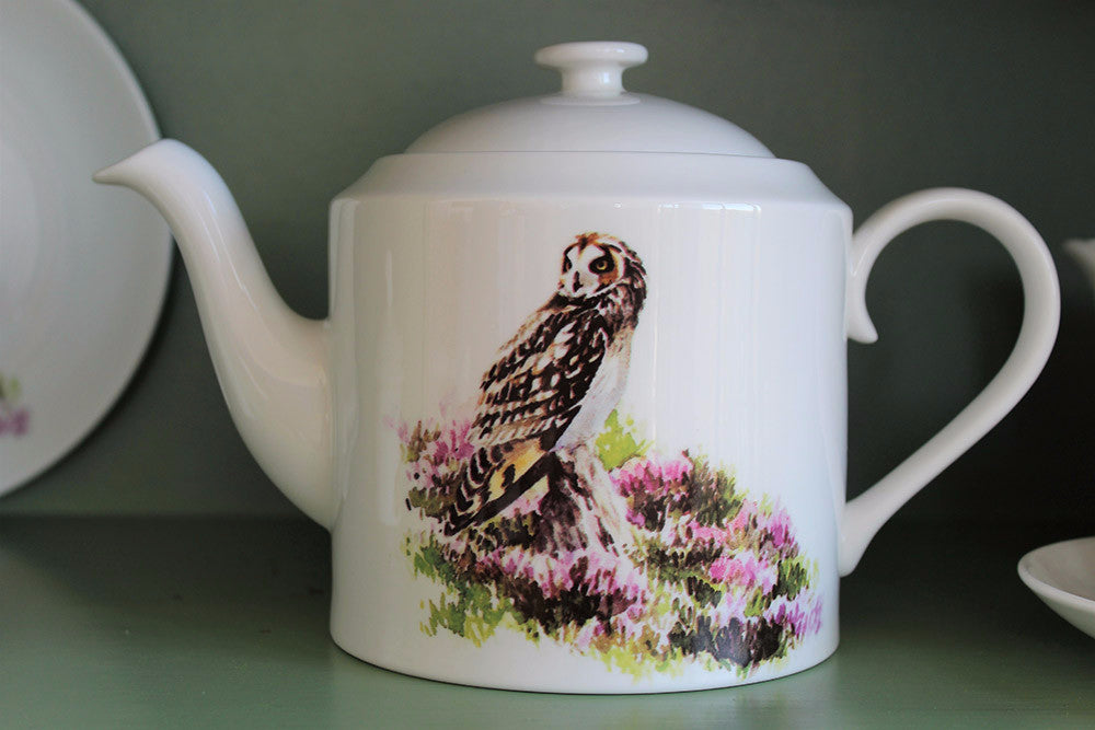 Orkney Storehouse | Short-eared Owl Teapot Lifestyle