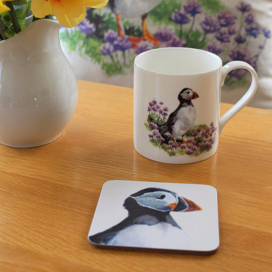 Orkney Storehouse | Puffin Mug and Coaster