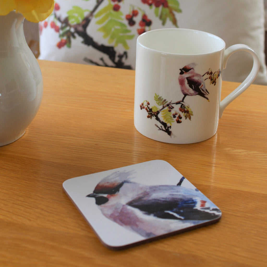 Orkney Storehouse | Waxwing Mug and Coaster Set