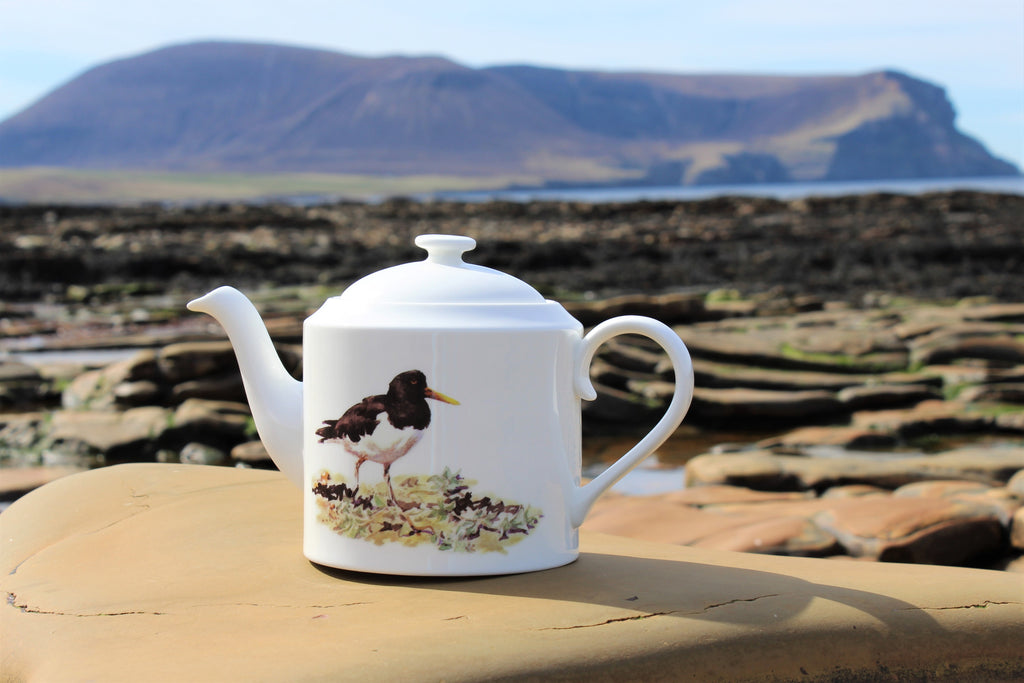 Orkney Storehouse | Oystercatcher Teapot Lifestyle Outdoors 1