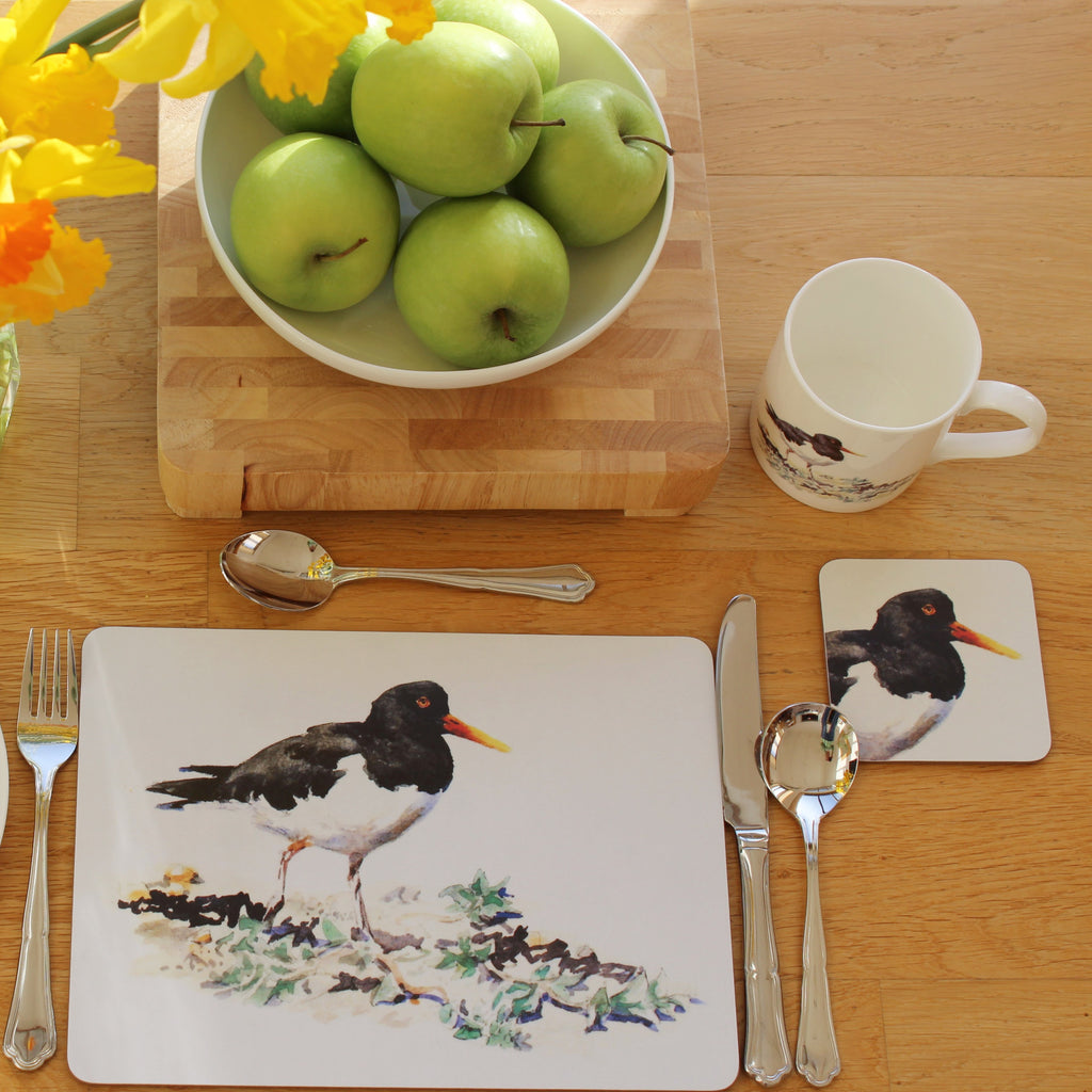 Orkney Storehouse | Oystercatcher Coaster Setting