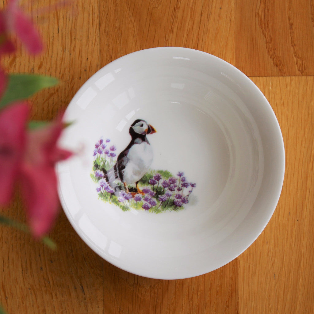 Orkney Storehouse | Puffin Cereal Bowl Lifestyle