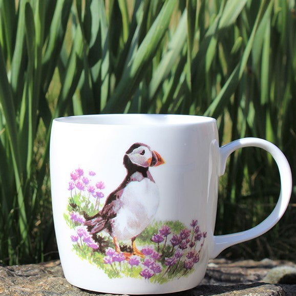 Orkney Storehouse | Puffin Mug Lifestyle