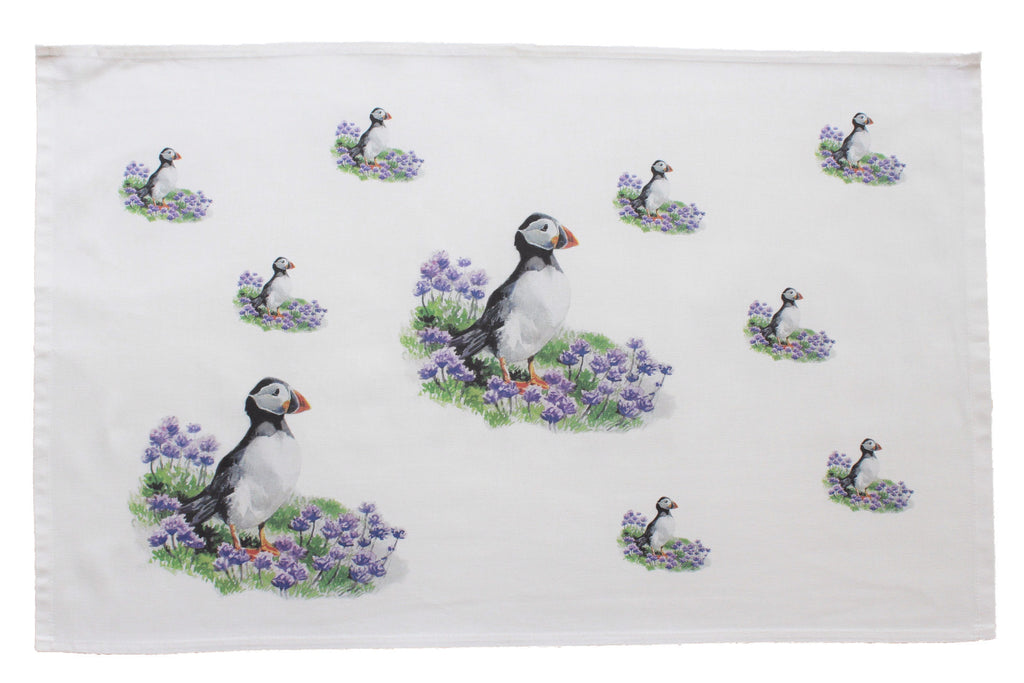 Orkney Storehouse | Puffin Tea Towel Repeating Product