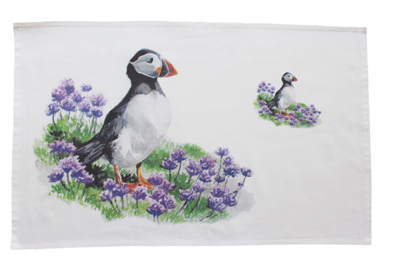 Orkney Storehouse | Puffin Tea Towel Feature Product