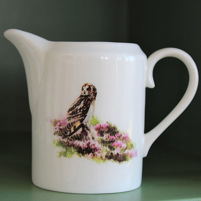 Orkney Storehouse | Short-eared Owl Cream Jug Lifestyle