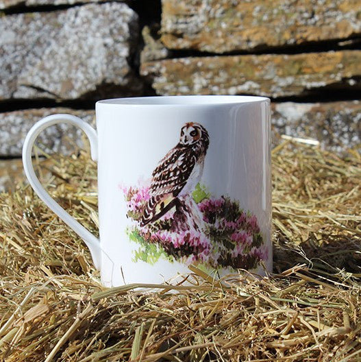 Orkney Storehouse | Short-eared Owl Mug Lifestyle