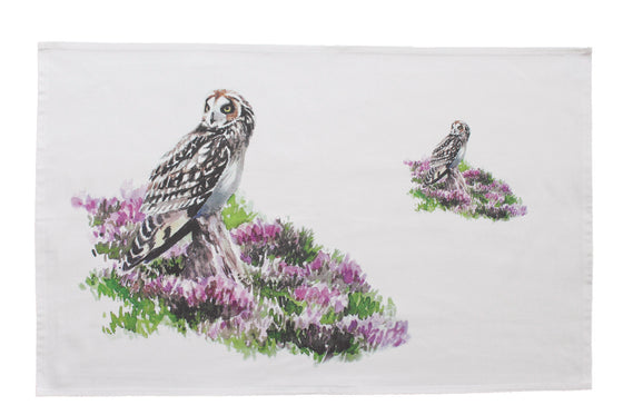 Orkney Storehouse | Short-eared Owl Tea Towel Feature Product